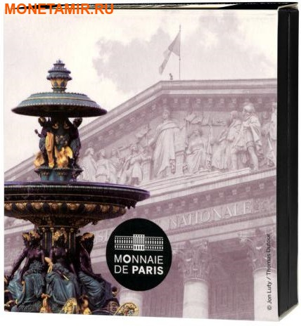 Франция 10 евро 2017 Национальное собрание и Площадь Согласия.Арт.60 (фото, вид 3)