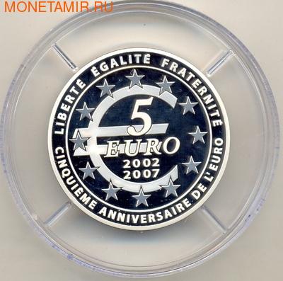 Франция 5 евро 2007. Сеятель (фото, вид 1)