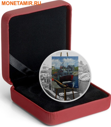 Канада 20 долларов 2017 Художники Канады серия На пленэре Картина Морские воспоминания.Арт.60 (фото, вид 4)