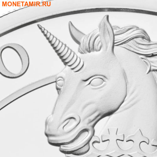 Великобритания 2 фунта 2017 Шотландский Единорог серия Звери Королевы (GB 2£ 2017 Queen's Beast The Unicorn of Scotland).Арт.000649755786/60 (фото, вид 1)
