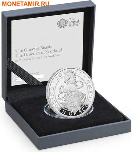 Великобритания 2 фунта 2017 Шотландский Единорог серия Звери Королевы (GB 2£ 2017 Queen's Beast The Unicorn of Scotland).Арт.000649755786/60 (фото, вид 4)