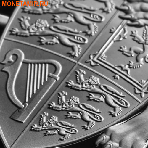 Великобритания 2 фунта 2017 Лев серия Звери Королевы (GB 2£ 2017 Queen's Beast The Lion of England).Арт.60 (фото, вид 1)