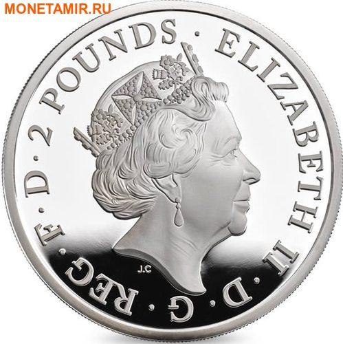 Великобритания 2 фунта 2017 Лев серия Звери Королевы (GB 2£ 2017 Queen's Beast The Lion of England).Арт.60 (фото, вид 2)