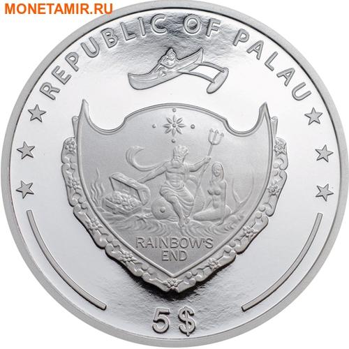 Палау 8х5 долларов 2016 Морская жизнь Красного моря Red Sea Marine Life (набор 8 монет).Арт.60 (фото, вид 1)