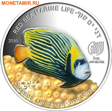 Палау 8х5 долларов 2016 Морская жизнь Красного моря Red Sea Marine Life (набор 8 монет).Арт.60 (фото, вид 2)