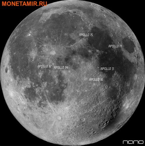 Буркина Фасо 1000 франков 2016 Лунный метеорит NWA 10546 Наночип.Арт.60 (фото, вид 3)