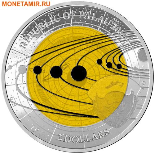 Палау 2 доллара 2017 Сатурн – Солнечная система.Арт.60 (фото, вид 1)