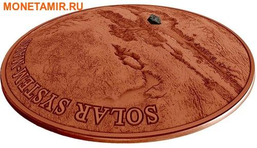 Ниуэ 1 доллар 2017 Метеорит Марс NWA 7397 – Солнечная система (Solar System - Mars NWA 7397).Арт.60 (фото, вид 1)