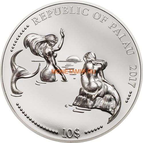 Палау 2х10 долларов 2017 Дельфин и Морской Конек серия Защита морской жизни (Palau 2x10$ 2017 Dolphin + Sea Horse 2-coin Set Piedfort).Арт.60 (фото, вид 3)