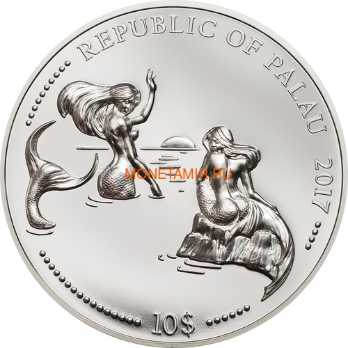 Палау 10 долларов 2017 Дельфин Морской Конек Защита Морской Жизни Набор Две Монеты (Palau 10$ 2017 Dolphin Sea Horse Marine Life Protection Silver Coin Set Piedfort).Арт.60 (фото, вид 3)