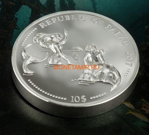 Палау 2х10 долларов 2017 Дельфин и Морской Конек серия Защита морской жизни (Palau 2x10$ 2017 Dolphin + Sea Horse 2-coin Set Piedfort).Арт.60 (фото, вид 4)