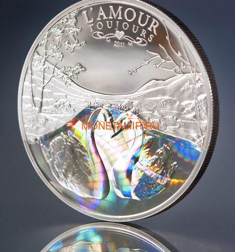 Камерун 1000 франков 2011 Любовь всегда – Лебеди (L`Amour toujours Proof) Голограмма.Арт.000235637035/60 (фото, вид 1)