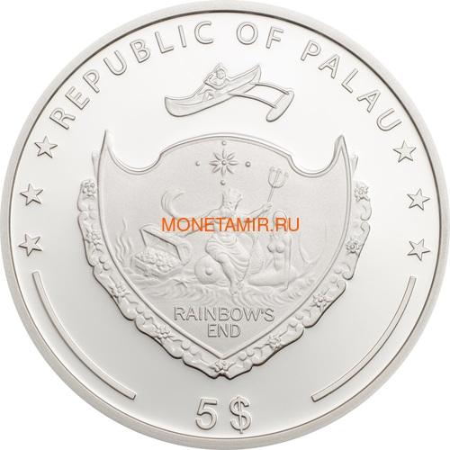Палау 5 долларов 2018 Клевер – Унция удачи (Palau 5$ 2018 Ounce of Luck 4-leaf clover).Арт.60 (фото, вид 3)