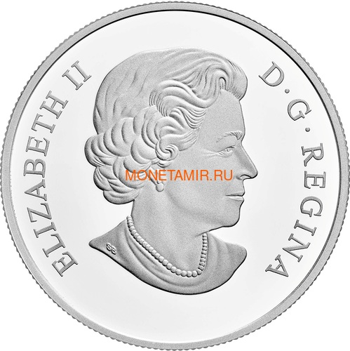 Канада 20 долларов 2017 Пчела серия Насекомые из Драгоценных Камней (Canada 20$ 2017 Bee Bejeweled Bugs Silver Coin).Арт.60 (фото, вид 3)