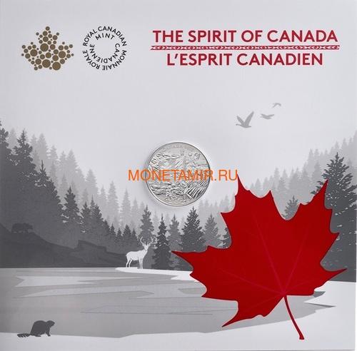 Канада 3 доллара 2017 Дух Канады – Флаг Хоккей Корабль Трактор Медведь Кит Горы (Canada 3$ 2017 Spirit of Canada).Блистер.Арт.60 (фото, вид 2)