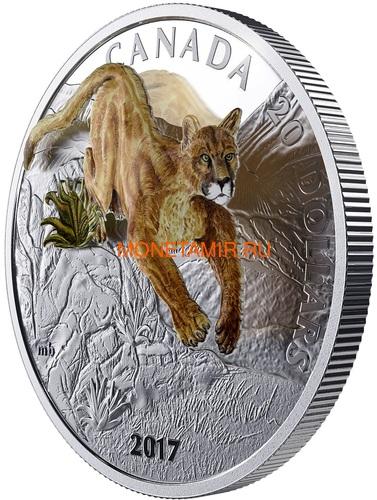 Канада 20 долларов 2017 Пума 3D (Canada 20$ 2017 Puma 3D).Арт.60 (фото, вид 1)