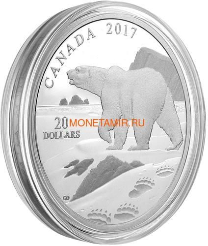 Канада 20 долларов 2017 Полярный медведь (Canada 20$ 2017 Paw Prints on the Edge Polar Bear).Арт.000463154463/60 (фото, вид 2)