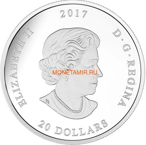 Канада 20 долларов 2017 Клен – Хрустальная капля (Canada 20C$ 2017 Jewel of the Rain Sugar Maple Leaves Swarovski).Арт.000554254478/60 (фото, вид 1)