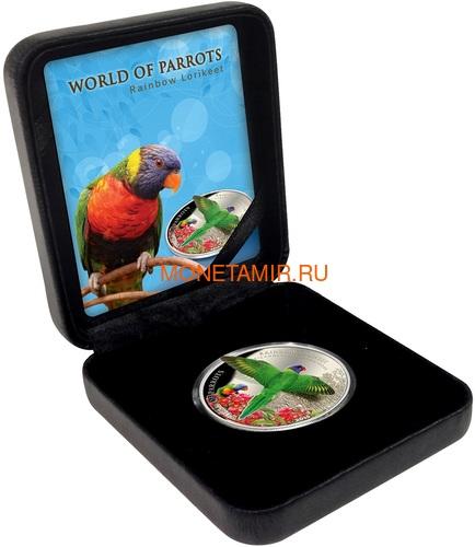 Острова Кука 5 долларов 2015 Многоцветный Лорикет – Мир попугаев 3D (Cook Isl. 5$ 2015 Rainbow Larikeet 3D The World of Parrots).Арт.000337648427/60 (фото, вид 3)