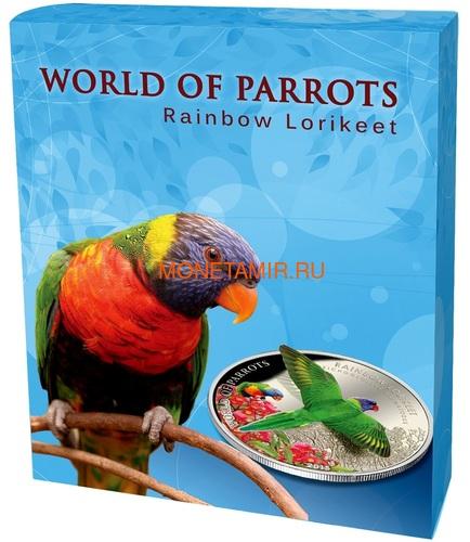 Острова Кука 5 долларов 2015 Многоцветный Лорикет – Мир попугаев 3D (Cook Isl. 5$ 2015 Rainbow Larikeet 3D The World of Parrots).Арт.000337648427/60 (фото, вид 4)