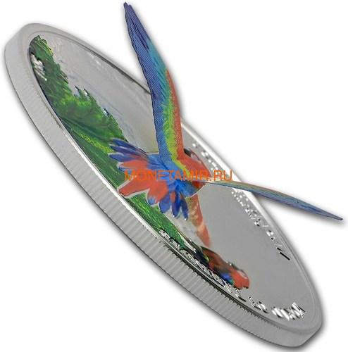 Острова Кука 5 долларов 2016 Красный Ара – Мир попугаев 3D (Cook Isl. 5$ 2016 Scarlet Macaw 3D The World of Parrots).Арт.000442852870 /60 (фото, вид 2)