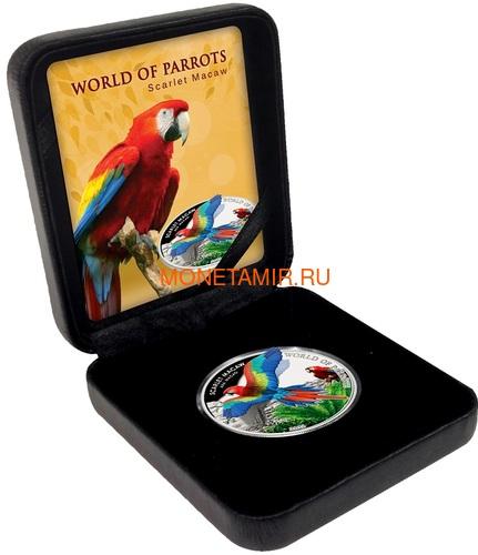 Острова Кука 5 долларов 2016 Красный Ара – Мир попугаев 3D (Cook Isl. 5$ 2016 Scarlet Macaw 3D The World of Parrots).Арт.000442852870 /60 (фото, вид 4)