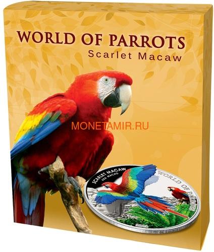 Острова Кука 5 долларов 2016 Красный Ара – Мир попугаев 3D (Cook Isl. 5$ 2016 Scarlet Macaw 3D The World of Parrots).Арт.000442852870 /60 (фото, вид 5)