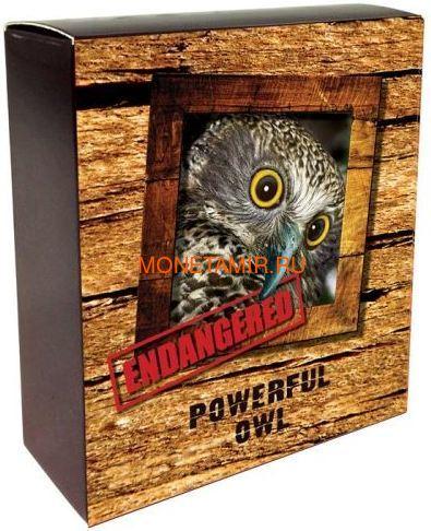 Тувалу 1 доллар 2018 Иглоногая Сова – Исчезающие виды (Tuvalu 1$ 2018 Endangered Extinct Powerful Owl).Арт.60 (фото, вид 3)