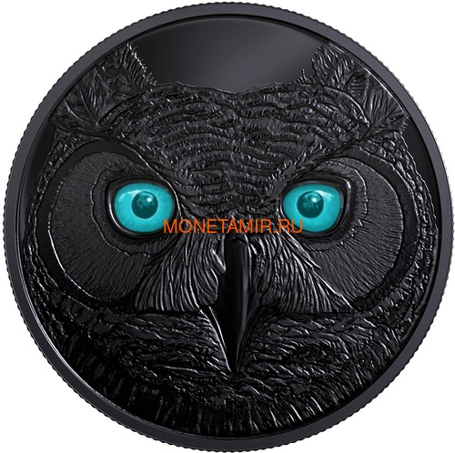 Канада 15 долларов 2017 Ушастая Сова (Canada 15$ 2017 Glow-In-The-Dark Coin Great Horned Owl).Арт.60 (фото, вид 1)