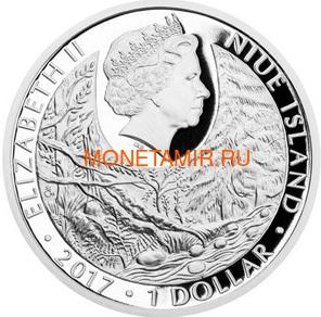 Ниуэ 1 доллар 2017 Уральская Сова – Под угрозой исчезновения (Niue 1 dollar 2017 Ural Owl Is endangered) Буклет.Арт.60 (фото, вид 1)