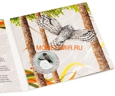 Ниуэ 1 доллар 2017 Уральская Сова – Под угрозой исчезновения (Niue 1 dollar 2017 Ural Owl Is endangered) Буклет.Арт.60 (фото, вид 4)