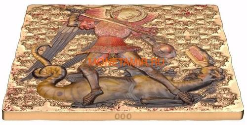 Ниуэ 2 доллара 2015 Святой Михаил – Мировое Наследие (Niue 2015 $2 World Heritage St. Michael 1 Oz Gilded Silver Coin).Арт.60 (фото, вид 3)