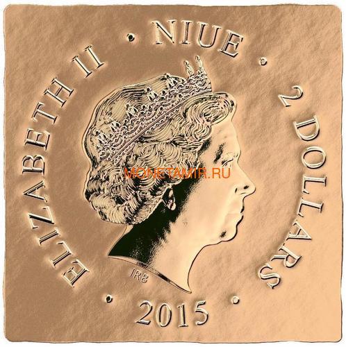 Ниуэ 2 доллара 2015 Святой Михаил – Мировое Наследие (Niue 2015 $2 World Heritage St. Michael 1 Oz Gilded Silver Coin).Арт.60 (фото, вид 4)