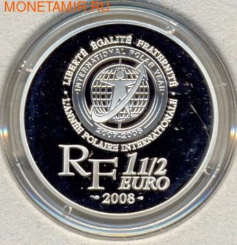 Франция 1,5 евро 2008. Пингвин (фото, вид 1)