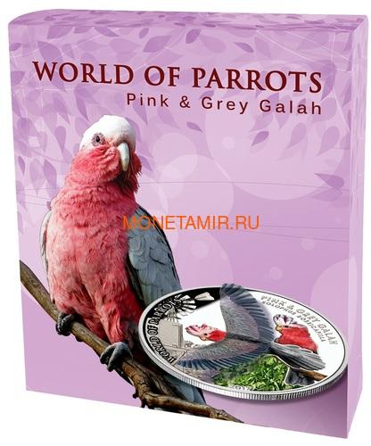Острова Кука 5 долларов 2017 Розовый Какаду – Мир попугаев 3D (Cook Isl. 5$ 2017 Pink & Grey Galah 3D The World of Parrots).Арт.60/Sch (фото, вид 6)