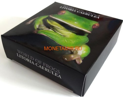 Палау 2 доллара 2013 Коралловопалая Литория серия Мир Лягушек (Palau 2$ 2013 Litoria Caerulea World of Frogs).Арт.000202848905/60 (фото, вид 3)