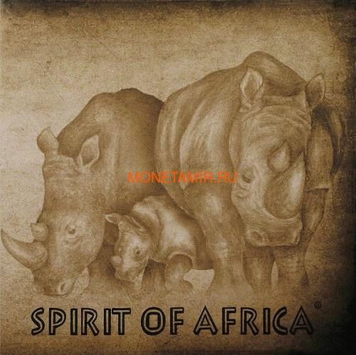 Буркина Фасо 5х1000 франков 2017 Африканские Носороги – Дух Африки (Набор) Burkina Faso 5х1000 francs 2017 African Rhinos – the Spirit of Africa Set.Арт.60 (фото, вид 3)