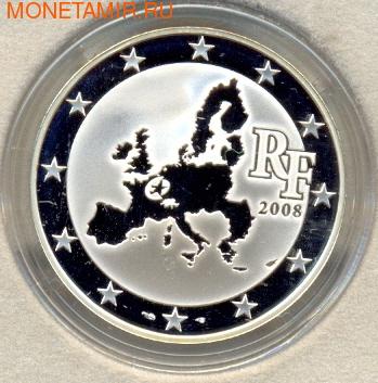 Франция 1 1/2 евро 2008. Парламент (фото, вид 1)