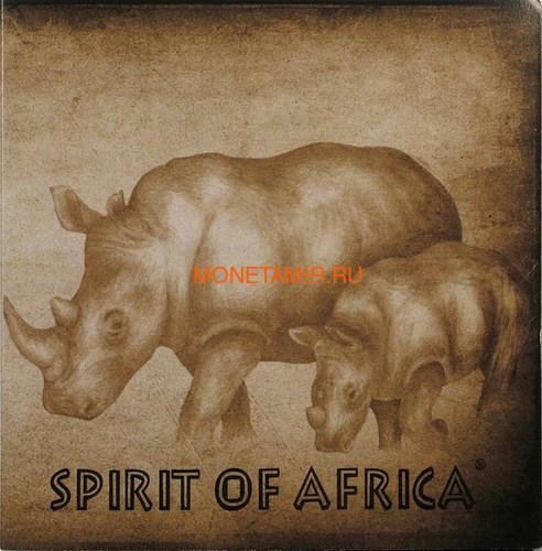 Буркина Фасо 5х1000 франков 2017 Африканские Носороги – Дух Африки (Набор) Burkina Faso 5х1000 francs 2017 African Rhinos – the Spirit of Africa Set.Арт.60 (фото, вид 7)