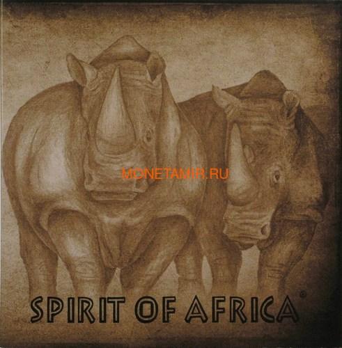 Буркина Фасо 5х1000 франков 2017 Африканские Носороги – Дух Африки (Набор) Burkina Faso 5х1000 francs 2017 African Rhinos – the Spirit of Africa Set.Арт.60 (фото, вид 11)