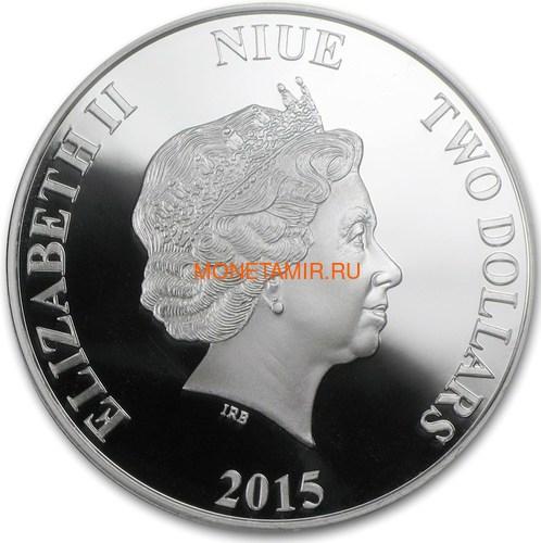 Ниуэ 2 доллара 2015 Слоны Фен-Шуй (Niue 2$ 2015 Elephant Feng Shui).Арт.000533549621/60 (фото, вид 1)
