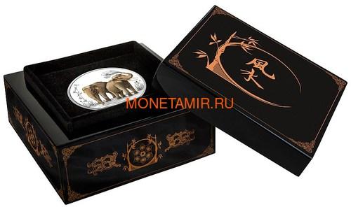 Ниуэ 2 доллара 2015 Слоны Фен-Шуй (Niue 2$ 2015 Elephant Feng Shui).Арт.000533549621/60 (фото, вид 3)