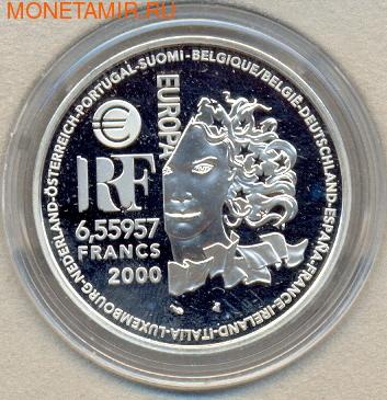 Франция 6,55957 франков 2000. Модерн (фото, вид 2)