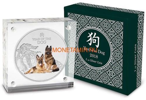 Ниуэ 2 доллара 2018 Год Собаки – Лунный календарь (Niue 2$ 2018 Year of the Dog Lunar calendar).Арт.60 (фото, вид 2)