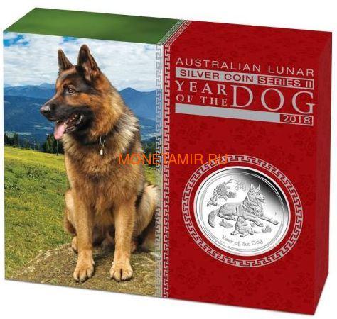 Австралия 1 доллар 2018 Год Собаки – Лунный календарь (Australia 1$ 2018 Year of the Dog Lunar calendar Proof).Арт.60 (фото, вид 3)