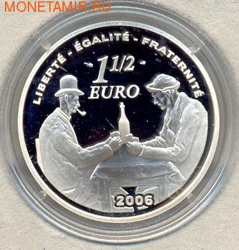 Франция 1,5 евро 2006. Поль Сезанн (1839-1906) (фото, вид 1)
