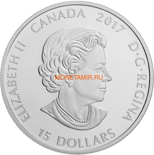 Канада 15 долларов 2017 Рысь (Canada 15$ 2017 Glow-In-The-Dark Coin Lynx).Арт.60 (фото, вид 2)