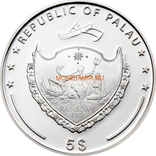 Палау 5 долларов 2009 Падение Берлинской стены.Арт.60 (фото, вид 1)