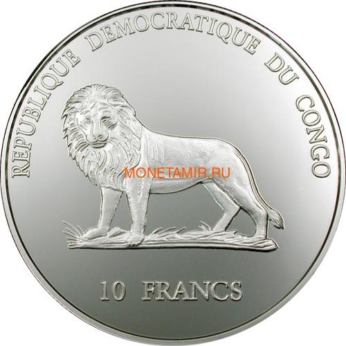 Демократическая Республика Конго 10 франков 2002 Полярная звезда Большая медведица и Малая медведица. (фото, вид 1)