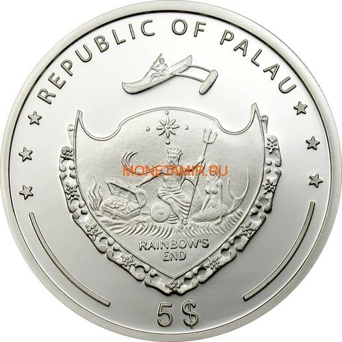 Палау 5 долларов 2006 Метеорит Нантан (Palau 5$ 2006 Meteorite Nantan).Арт.60 (фото, вид 1)